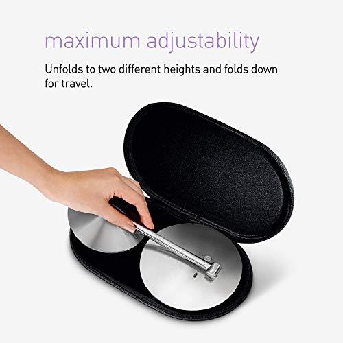 simplehuman5インチセンサーミラー照明付きメイクアップミラー10倍拡大ステンレススチール5inchdiameterゴールドST3010