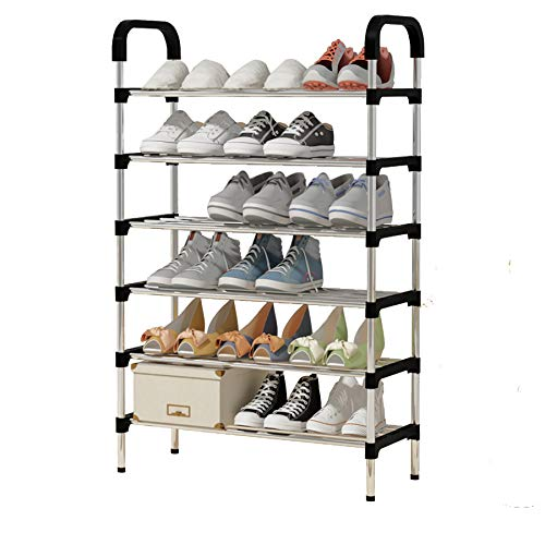 YAYI Shoe Rack 6-Tier Metal Shoe Storage Organiser Hode up to 18-21 Pairs Shoes,Black