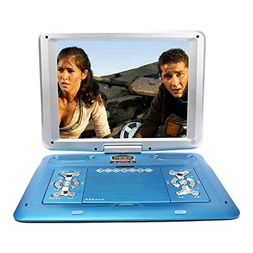 ZXD Reproductor de DVD portátil 8J HD DVD móvil Reproductor de DVD doméstico de 22 Pulgadas Reproductor de DVD portátil EVD TV Reproductor de Video de Cine para niños,Azul