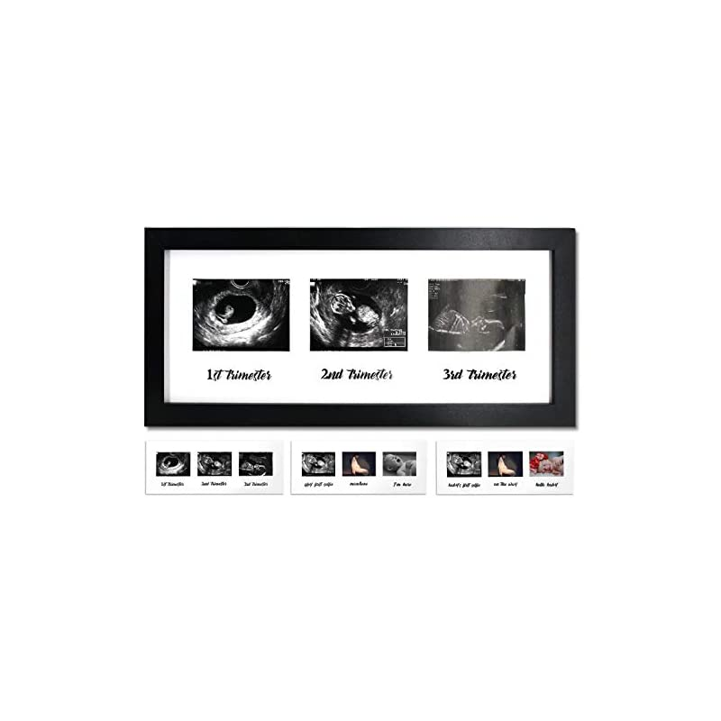 crib bedding and baby bedding iheipye triple sonogram pregnancy frame – baby ultrasound picture frame with story for expecting parents, baby shower, gender reveal party, baby nursery decor