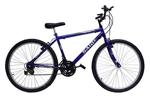 Bicicleta Aro 26 Masculina De Passeio 18 Marchas (Azul)