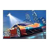 Grand Theft Auto V Game Poster GTA 5 High Life 2 - Póster de lienzo para pared (20 x 30 cm)