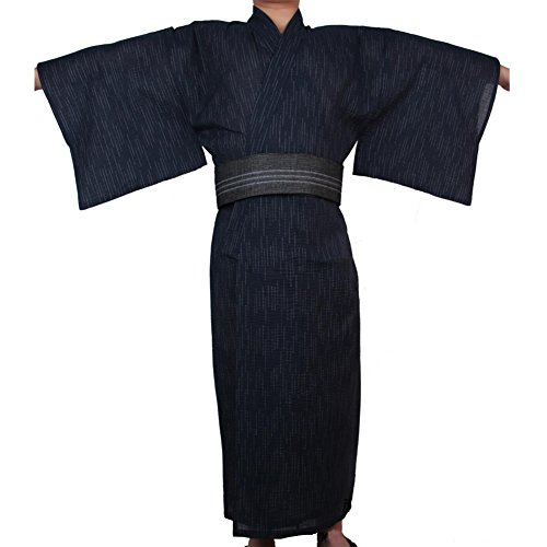 Jinbei Japonés Yukata Japonés Kimono Casa Robe Vestido # 09 [Tamaño XL]