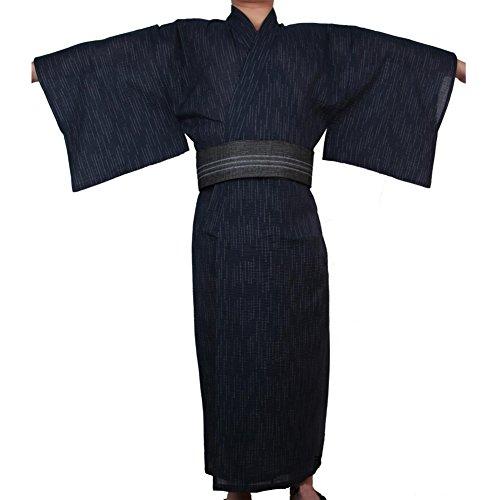 Fancy Pumpkin Kimono Giapponese da Uomo Jinbei Kimono Giapponese Home Robe Gown # 09 [Taglia XL]