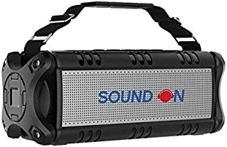 SOUND ON Bluetooth Speaker, 40W Portable Speaker with Rich Bass, Waterproof Bluetooth Speakers with 8 Hours Playback Time,...