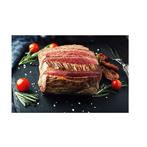 tzxdbh Plantaardig Vleesmes en Vork Keuken Doek Schilderij Cuadros Scandinavische Posters en Prints Muurkunst Voedsel Afbeelding Woonkamer-in Schilderij & Kalligrafie uit een PA14123 70x100cm No Frame
