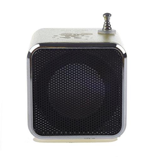 TOOGOO TF Altavoz Estereo USB Radio FM Music Player para PC MP3 5S 5C - Verde