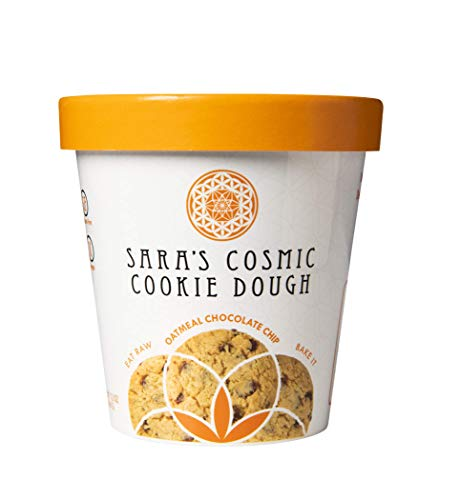 Sara's Cosmic Cookie Dough| All Natural Ingredients Gluten, Dairy & Egg FREE, Vegan and Paleo Friendly (Oatmeal Chocolate Chip, Single)