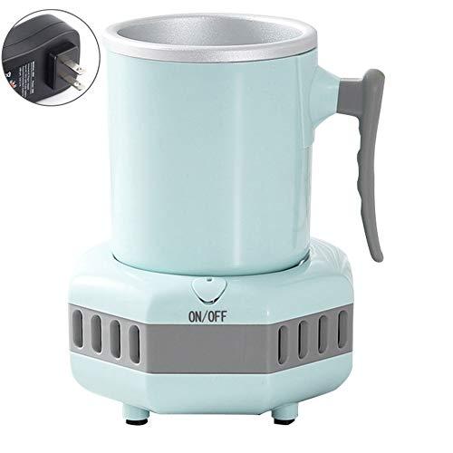 KongLyle Smart Getränkekühltasse, 420 ml, schneller Kühler, elektrische Kühltasse, Mini-Kühlschrank für Cola Wein blau