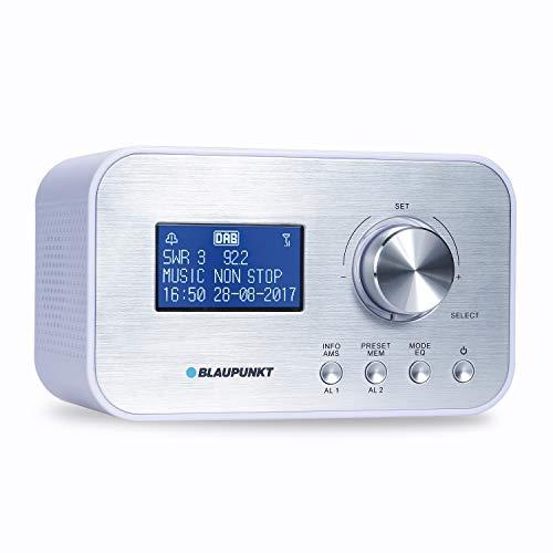 BLAUPUNKT CLRD 30 Digital Radio DAB + Wecker, Radiowecker, Uhrenradio mit USB Ladefunktion, Zwei Weckzeiten, Snooze Funktion und Sleeptimer, 6 Watt RMS, RDS (Senderanzeige) Weiß