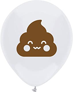 Poop Emoji Latex Balloons, 16-Pack 12inch Birthday Party Decorations, Supplies