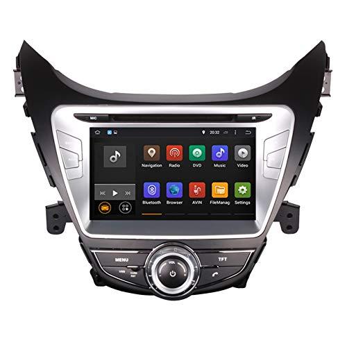 KCSAC 8 '' Android 9.0 Octa Core WiFi Car DVD Player Radio Stereo GPS NAVI Head Unit Fits for Hyundai Elantra/MD 2011-2013 GPS Navegación (Color : Android 9.0 PX6 4 32)