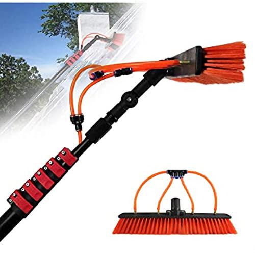 LYFWMGOD Limpieza Cepillo de Agua de Paneles solares fotovoltaicos, Coches Caravanas Camiones Campistas y autobuses, Lavado de Coches 3.6m-7.2m / 60cm Water Brush / 7.2M/24FT rod