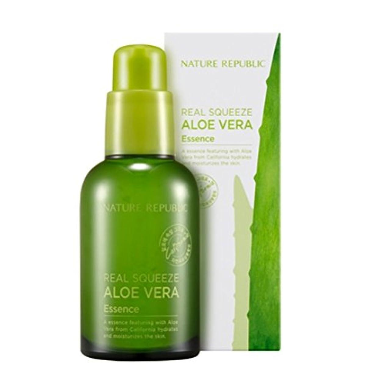 公然とゲート市の花[Nature Republic]ネイチャーリパブリック[Real Squeeze Aloe Vera Essence](リアルスクィーズアロエベラエッセンス) [並行輸入品]