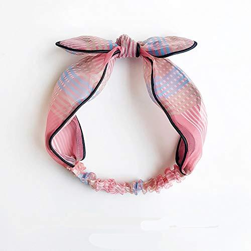 Partie de bande de bord de bande passante de bandeau de cheveux cerceau approprié à divers styles de cheveux, rose