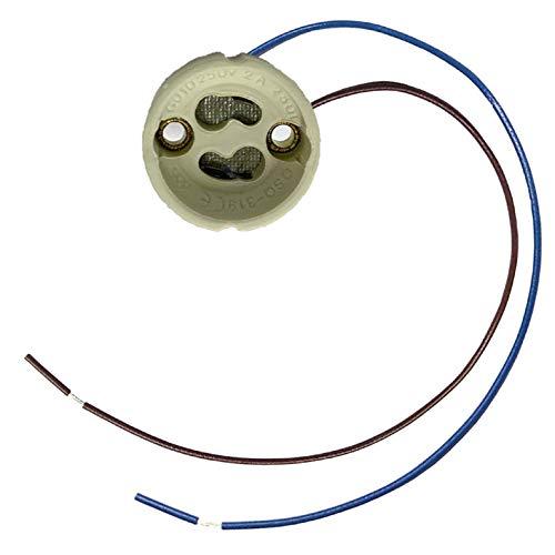 Lot de 20 douilles à LED Atomant GU10. Longueur du câble : 20 cm. Céramique (Pour ampoules LED et halogène), blanc, 28 x 16 mm.