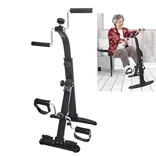 Bicicleta de ejercicio creativa Ejercitador de brazos y piernas, entrenamiento de cuerpo completo completo Equipo de ejercicios plegable para personas mayores y ancianos Resistencia de bicicleta d