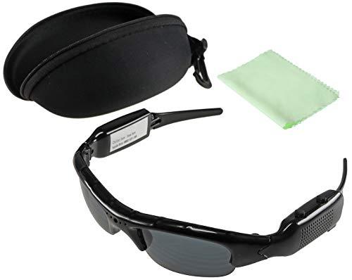 Sonnenbrille mit Kamera CT-Glass FHD Video Full HD 1920x1080p Akku Aufladbar I Action Kamera für Boulder, Biker, Downhill