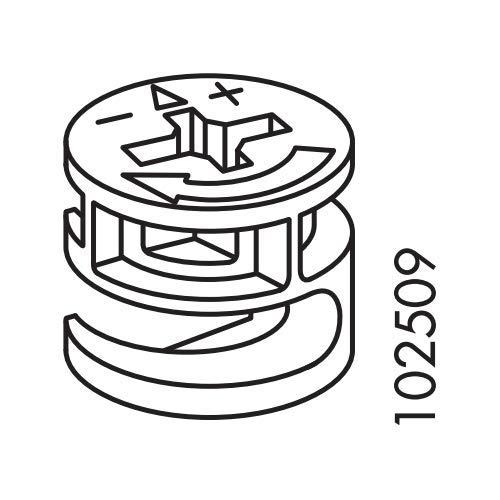 2 Stück Exzentermutter passend für IKEA Nr. 102509 Ersatzteile