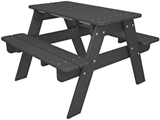 POLYWOOD KT130GY Slate Gray Kids Picnic Table