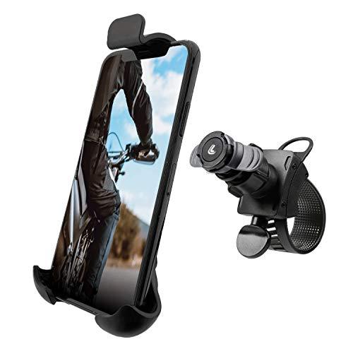 Lampa Opti Line Fahrrad Motorrad Handyhalterung, Universal Verstellbare Handy Halterung für Lenker, 360° Drehbar für 4,7-6,6 Zoll Smartphone.