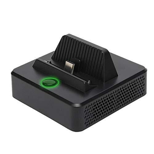 Haude Base de Carga PortáTil Adaptador HDMI EstacióN de Acoplamiento con Puerto USB 3.0 Cargador de Repuesto para Switch
