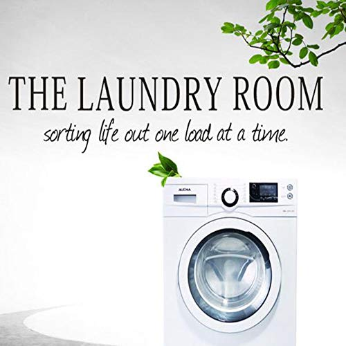 Removable Wall Sticker Clearance Sale, Libermall home decor Art Wall Decal Vinyl Saying The Laundry Room Quote DIY Wall Window Door Mural Sticker, Best for Family Room Decorative