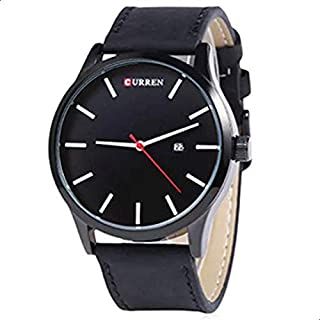 Curren Casual Watch For Men - Leather Band - 8214