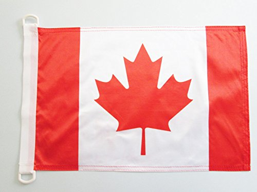 AZ FLAG BOOTFLAGGE Kanada 45x30cm - KANADISCHE BOOTSFAHNE 30 x 45 cm Marine flaggen Top Qualität