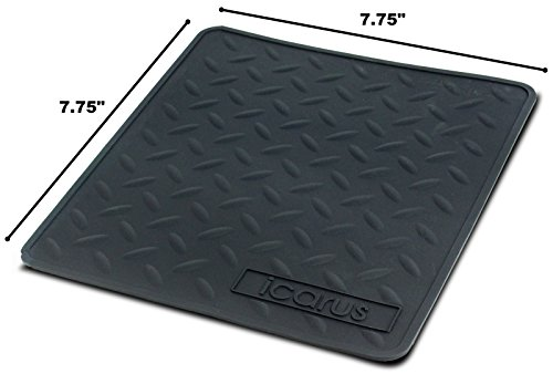 Icarus Silicone Heat Resistant Proof Tray Mat 7.75' x 7.75'