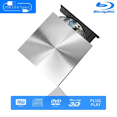 top rated External Blu-Ray 3D drive, Cloudtale USB C 3.0 and external Type-C drive Bluray Optical… 2020