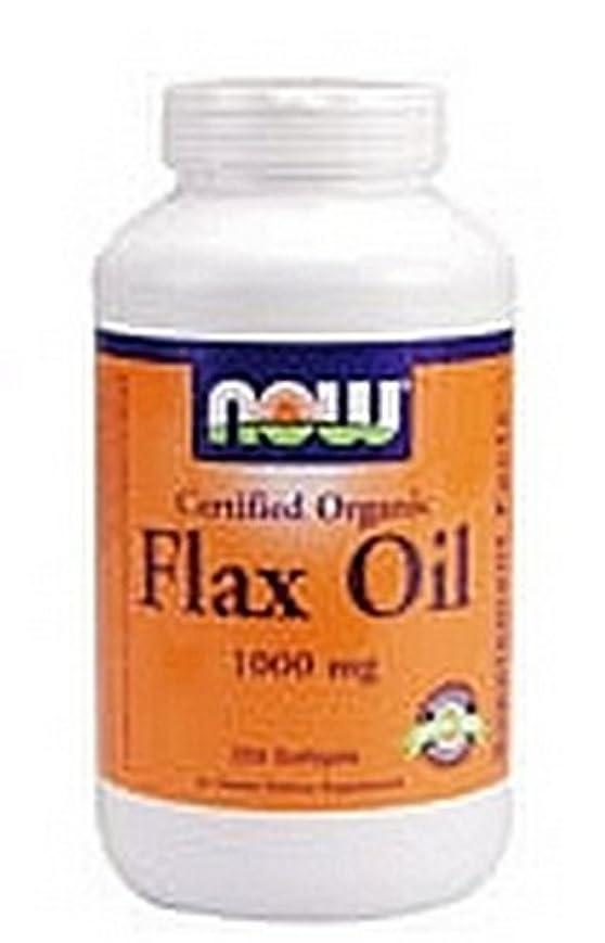 化粧クローン狂った[海外直送品] ナウフーズ   Organic Flax Oil 100 Sgels 1000 mg