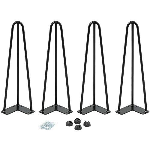 IDMarket - Lot de 4 Pieds épingle 40.5 cm pour Table Design Industriel