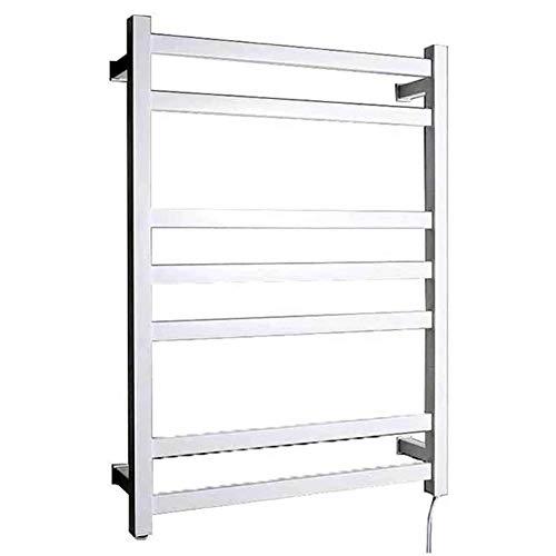 Radiador Toallero Electrico, Calentador de Toallas de energía Montado en la pared 7 barras, Calentador de toallas Mantenga las toallas y la ropa secas Secador de toallas, IP56 (HARDWIRED,blanco)