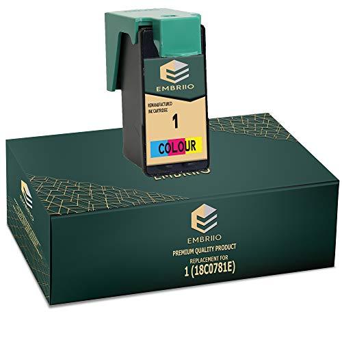 EMBRIIO 1 18C0781 Color Cartucho de Tinta Reemplazo para Lexmark X3470 X3450 X2300 Z735 X3480 X2350 X2480 X2470 Z730 X2450 X2310 X2315