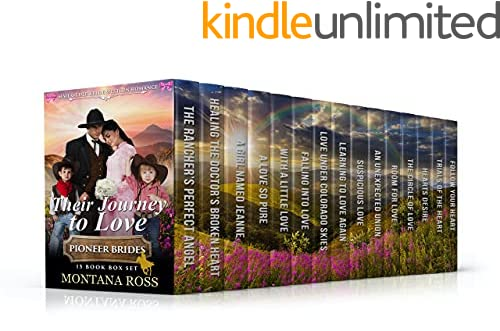Their Journey to Love: 15 Book Box Set of Sweet, Clean, Mail Order Bride Western Historical Romance