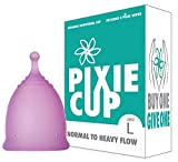 (Large) Ranked 1 for Most Comfortable Menstrual Cup and Better Removal Stem Than Diva Cup - Includes Period...