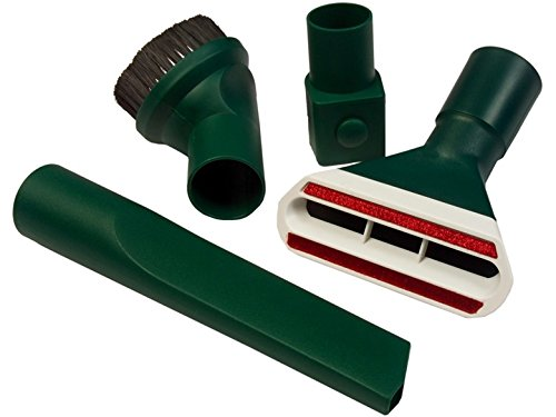 4-teiliges Düsen-Set Bürsten-Set | Fugendüse + Möbelpinsel+ Polsterdüse + Wappenadapter| grün passend für Vorwerk Kobold VK 118 119 120 121 122, Tiger VT 250 251