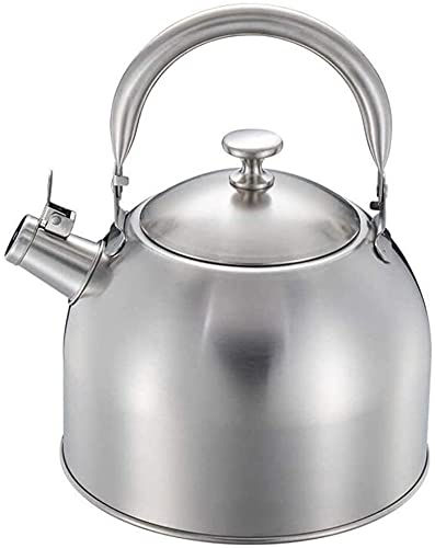 Stainless Steel Whistling Kettle Stove top Kettle Whistling Induction Modern Stainless Steel Teapot Indoor Outdoor Camping Hiking Picnic (Size : 3.5l)