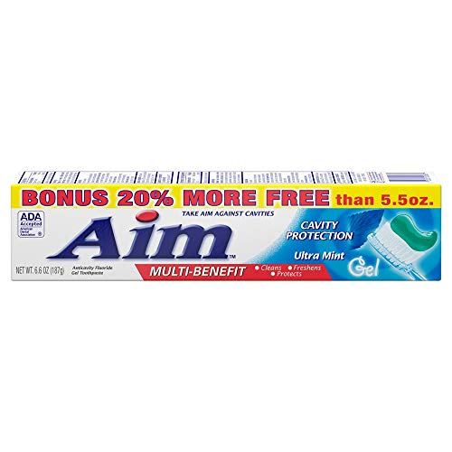 Toothpaste Multi Benefit Cavity Protection Ultra Mint Gel Cleans Freshens Strengthens Enamel Protects 3 Tubes Bundle pkg