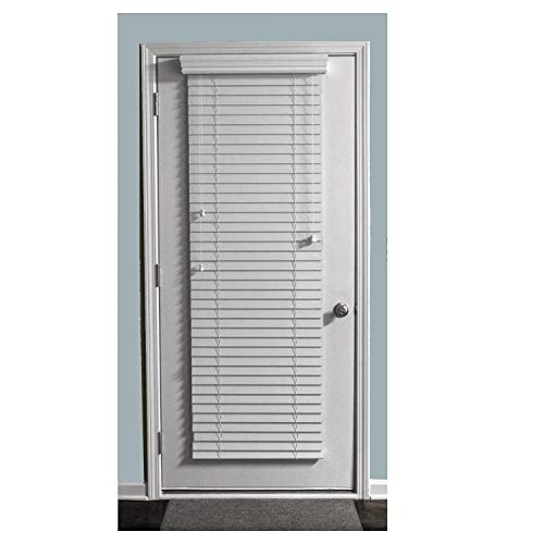 """TailorView, Custom Made 2 Inch Faux Wood Horizontal Window Blinds for Doors, Ghost White/Snow White, Outside Mount, 24"""" W x 70"""" H"""