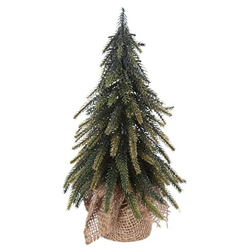 Féérie Lights & Christmas Décoration de Table Sapin de Noël Jute - 16 x 27 cm - Vert