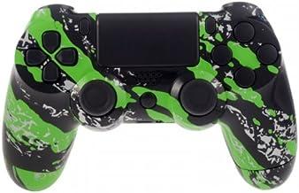 PS4 Controllerbehuizing voor Dualshock 4 Controller incl. Mod Kit - Green Splatter