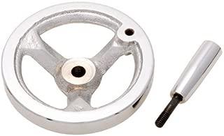 4.88 Dia. .375 Bore 1 Each 3 Spoke Elesa Hand Wheel w//Revolving Handle Polished Plastic