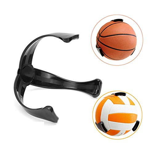 Ball Holder, Ball Claw Wall Mount, Basketball Holder for Wall, Football Soccer Volleyball Storage Decoration Shelf, Wall-Mount Space Saver- Black