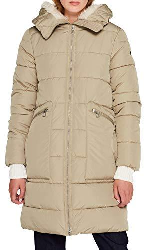 edc by ESPRIT Damen 109CC1G001 Mantel, Beige (Pale Khaki 265), (Herstellergröße: XX-Large)