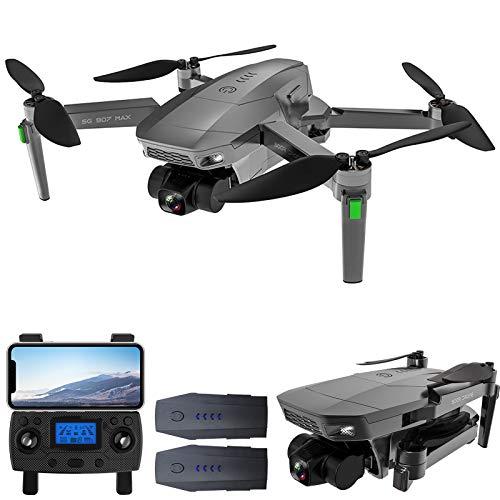 GoolRC SG907MAX GPS RC Drone con Cámara 4K Motor sin Escobillas de Cardán de 3 Ejes 5G WiFi Video Aéreo FPV Quadcopter Modo de Seguimiento Inteligente Paquete de Caja de Versión Reforzada