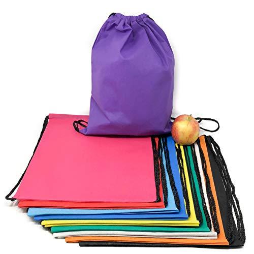 50 Pack Bulk Drawstring Bags - Polyester Backpacks