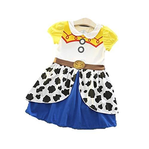 [HIKARI_BABY] トイストーリージェシー ワンピースドレス コスチューム コスプレ 仮装 衣装 ハロウィン ジェイシー バズライトイヤー ウッディ ディズニー ピクサー (120)