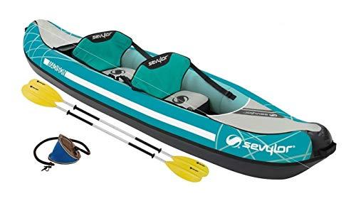 ALTIGASI Canoa Gonfiabile Madison Kit SEVYLOR per 2 Persone Inclusa Borsa MANOMETRO Pinna E 2 PAGAIE A 4 Elementi
